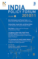 India Policy Forum 2011 -11:vol;VII